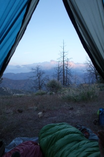 A view from the tent.