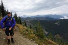 Ian dances while he hikes.