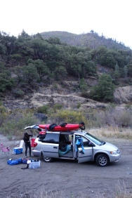 Car camping on the Trinity