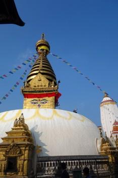 The Swayambhunath Stupa in Kathmandu