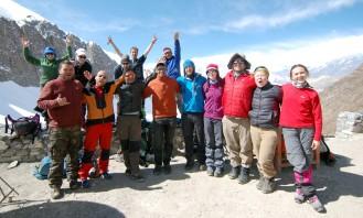 Celebrating making it over Thorong Pass