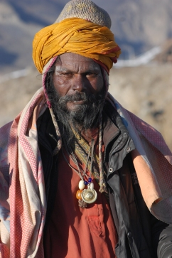 A friendly Sadhu at the Muktinath temple