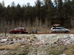 Car camping double date at Priest Draw, Flagstaff with Anna