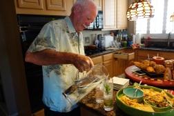 Waljito making us his famous mojitos called waljitos