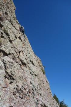 Climbing near El Rito, NM