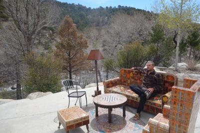 Outdoor living room in Buena Vista, CO